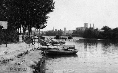 La Retina: vista antigua de la playa del Ebro