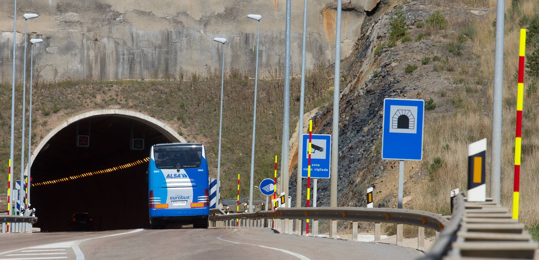 El túnel de Piqueras, cerrado al tráfico por obras del 17 al 20 de junio