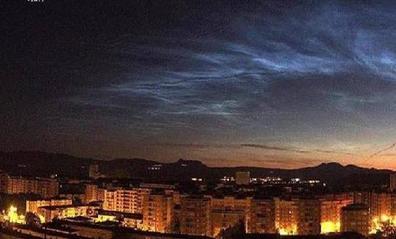 Así se vio la 'aurora boreal' en el cielo de Logroño