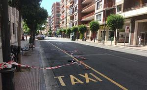 Reabierta al tráfico la calle Pío XII tras la aparición de un socavón