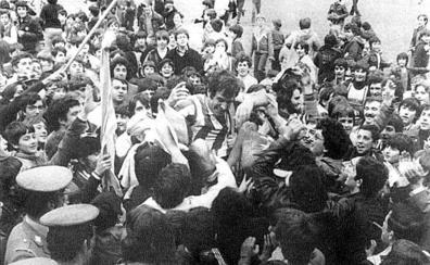 Adiós a Irízar, mito del Logroñés de los 70