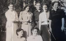 Jóvenes de Nájera a principios de los cuarenta
