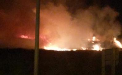 Incendio en Lardero a causa de los fuegos artificiales