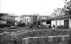 Depósito de pimientos en Calahorra