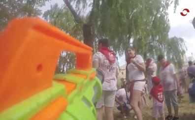 Batalla del vino infantil en Haro