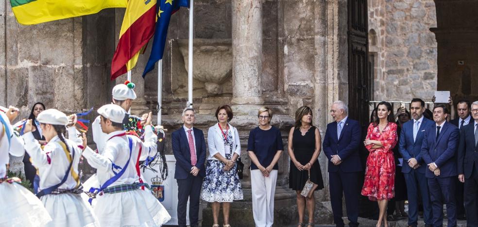 Doña Letizia, próxima a las aulas y al patrimonio
