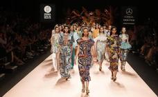 La marca riojana Bruma calza el desfile de Juan Duyos