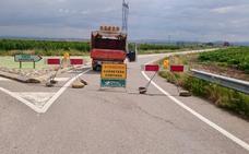 Reestablecido el tráfico en la carretera LR-289 entre Alfaro y la intersección hacia Grávalos