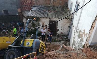 El Ayuntamiento de Calahorra repara un muro desprendido por la tormenta