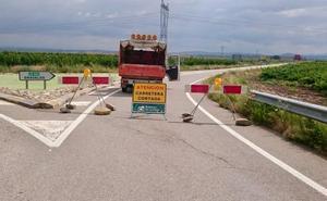 Reestablecido el tráfico rodado en la carretera LR-289 entre Alfaro y la intersección hacia Grávalos