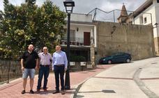 Reurbanizada la calle Los Olmos de Daroca