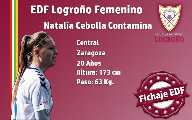El EDF Logroño se refuerza con la central Natalia Cebolla