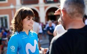 Sheyla Gutiérrez luce su maillot de campeona en una irregular contrarreloj