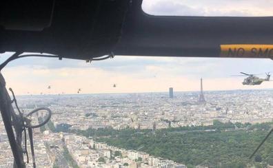 Helicópteros riojanos, en la Fiesta Nacional Francesa