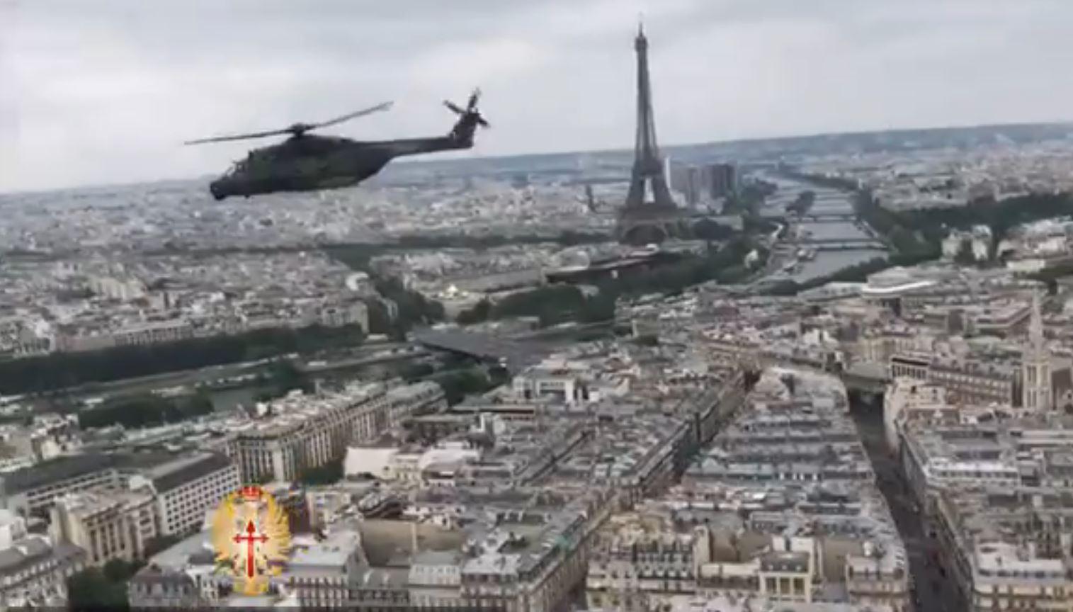 Helicópteros riojanos sobre París