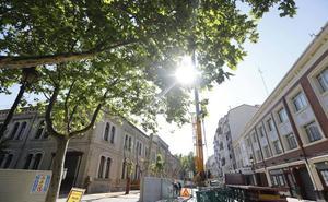 Las obras en el Sagasta cortan el tráfico en Duquesa de la Victoria