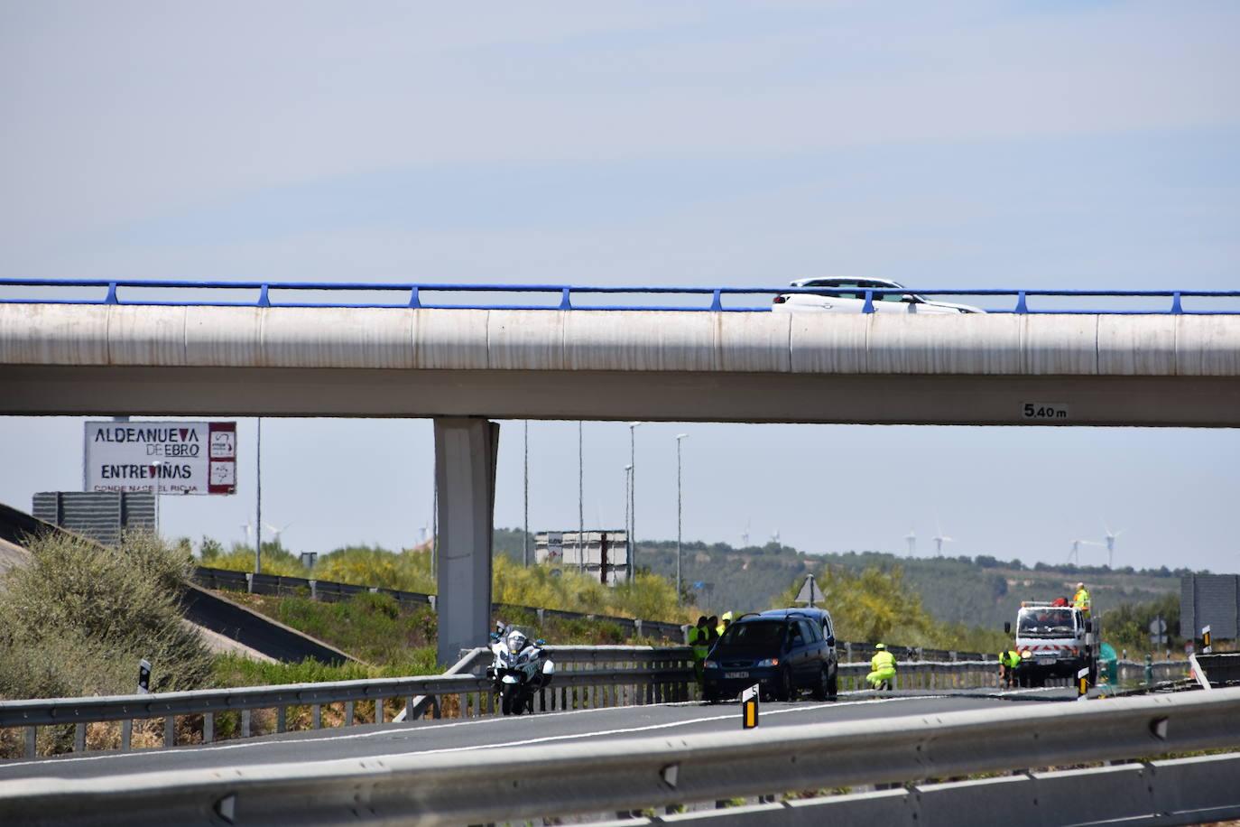 Accidente sin heridos en la N-232, en Aldeanueva de Ebro