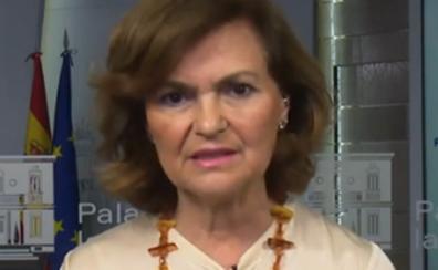 Carmen Calvo: «Curiosa manera de entender la democracia la de Podemos»