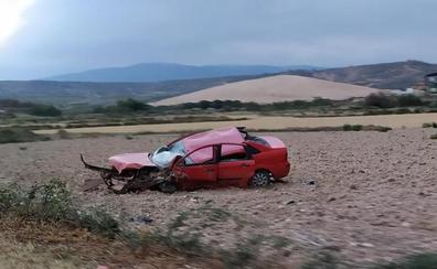 Cinco heridos en un accidente de tráfico en Arnedo