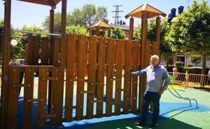 Finalizan las obras de la nueva zona lúdica en el parque Iturrimurri