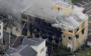 33 muertos en el incendio provocado de un estudio de animación en Kioto