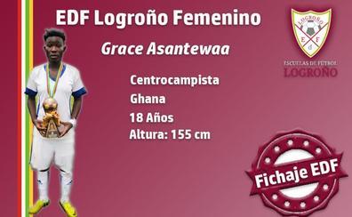 La centrocampista Grace Asantewaa se suma al EDF Logroño