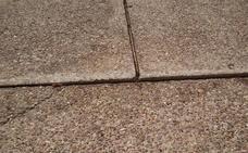 El suelo en el cementerio de Logroño