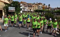 Quinientas camisetas verdes en la marcha contra el cáncer
