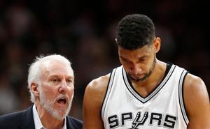 Duncan será asistente de Popovich en los Spurs