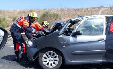 Un herido en un accidente en la AP-68 en Cenicero