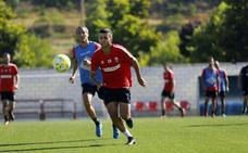 Hoy y el viernes, doble sesión antes del segundo amistoso de la pretemporada en Soria