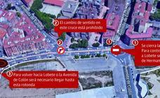 El tráfico de salida de Logroño por avenida de Colón se desvía desde este miércoles