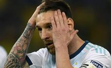 La Conmebol suspende a Messi por tres meses