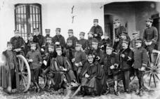 Oficiales de Artillería en 1909