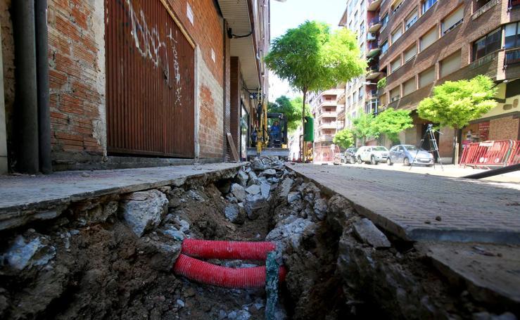 Los trabajos en la calle Vitoria, en imágenes