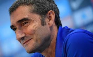 Valverde: «Estoy muy contento con la plantilla que tengo»