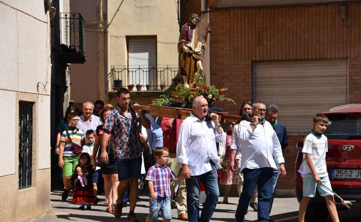 Procesión de San Roque en Alcanadre