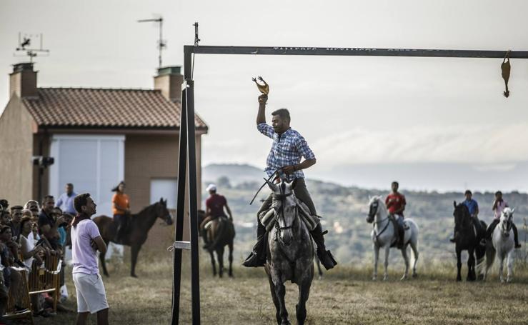 Nalda celebra su tradicional carrera de gallos