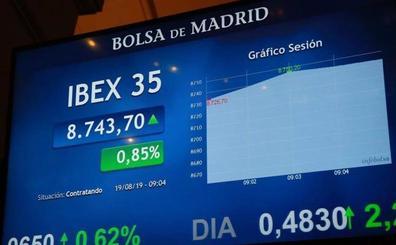 El Ibex-35 recupera los 8.700 con la expectativa de estímulos y buenas noticias comerciales