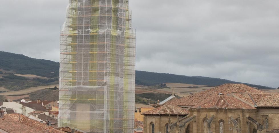 Acaba la instalación del andamio de la torre tras cinco semanas