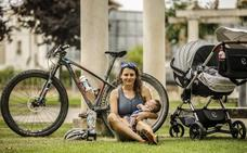 María, la mamá de Aleix, es triatleta