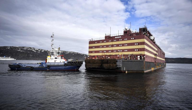 Rusia envía a la península de Chukotka su primera central nuclear flotante