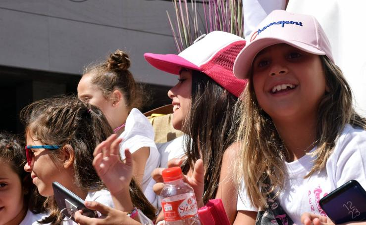 Desfile de carrozas en las fiestas de Calahorra