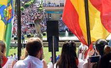 Calahorra dispara el cohete de las fiestas en honor a San Emeterio y San Celedonio