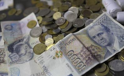 Los españoles aún tienen en pesetas el equivalente casi al presupuesto de Justicia