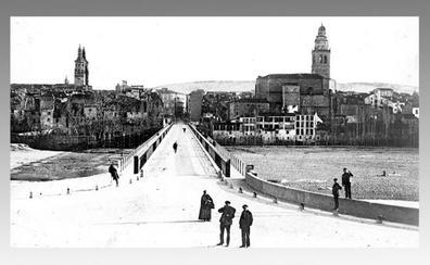 La Retina: vista antigua de Logroño junto al Ebro