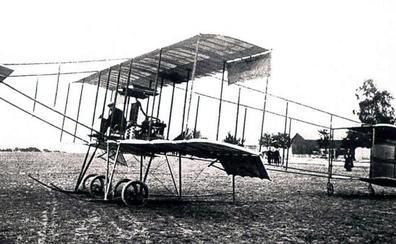 La Retina: primer vuelo de un avión en Logroño