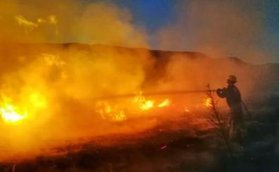 Sofocado un incendio en el que se han quemado 3.800 metros cuadrados de pastos en Albelda