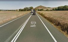 Dos heridos en la N-120 al salirse su vehículo de la carretera, en Grañón