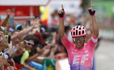 Sergio Higuita gana en la sierra madrileña y Roglic aguanta el liderato